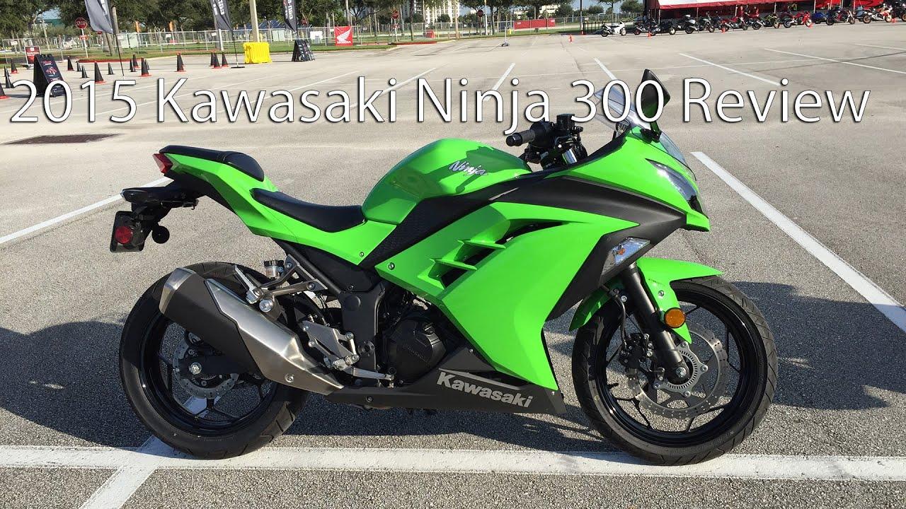 2015 Kawasaki Ninja 300 Motorcycle Review - YouTube