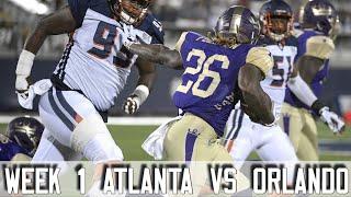 AAF Week 1 Orlando Apollos Vs Atlanta Legends Highlights