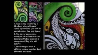 Koru Spiral Plants Art Lesson - Creative Artroom