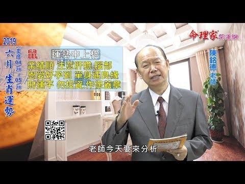 陳銘德「命理家開運網」 2019年 六月 生肖運勢