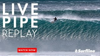 Pipeline, Hawaii March 27th, 2017 | Unedited Raw Footage from Surfline's Live Session at Pipeline