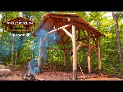 She Digs It | The Forest Kitchen | Off Grid Log Cabin Build, Ep.4 S1