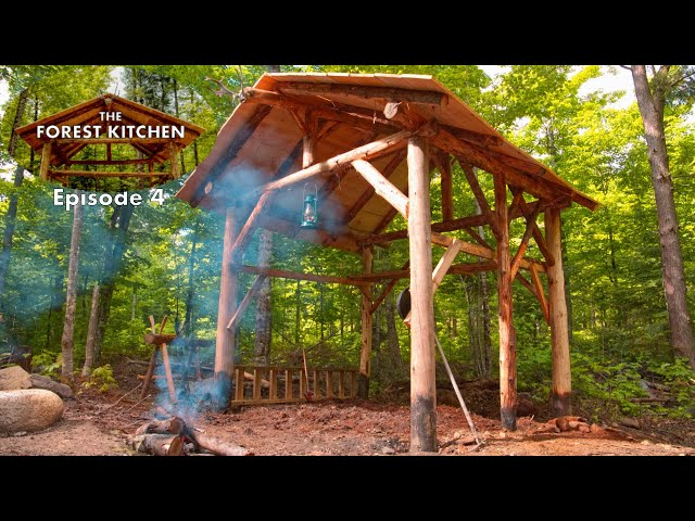 The Forest Kitchen Ep. 4 at the Off Grid Log Cabin Build, She Digs It