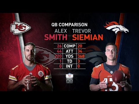 NFL Monday QB: Alex Smith vs. Trevor Siemian