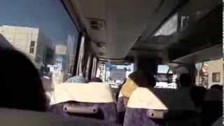 白河だるま市 シャトルバス 移動 市内各所にもうけられた臨時駐車場から...