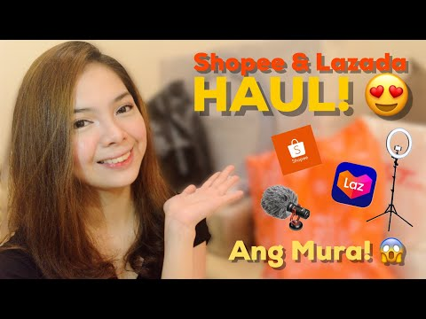Shopee & Lazada Haul! + Unboxing and Review (Prestigio Ring Light, Boya MM1, Make Up, Etc.)