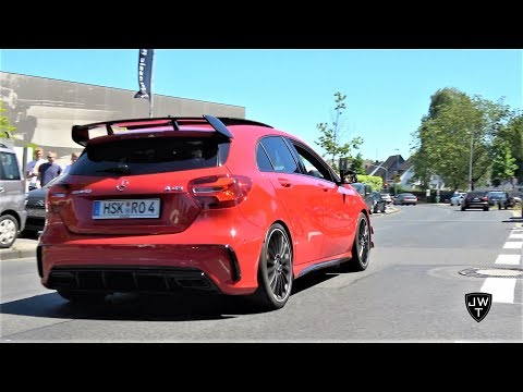 Mercedes-Benz A45 AMG SOUNDS! Launch Control, Downshifts & More Exhaust Sounds!