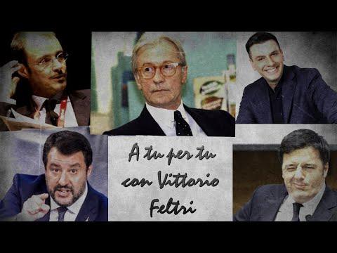 A tu per tu con Vittorio Feltri. Roberto Poletti, Francesco Specchia e i due Matteo: Salvini e Renzi