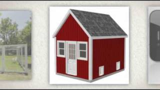 G488 10 X 14 X 8 Shed - Chicken Coop Plans