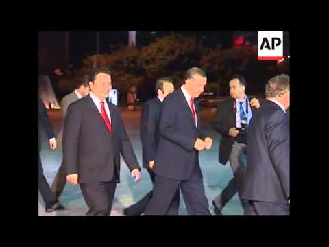 Heads of state arriving for summit