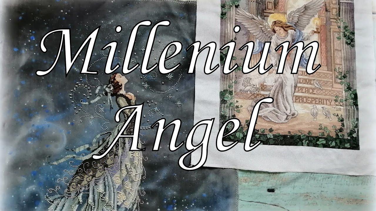 111. Вышивка крестом. Millenium Angel от Dimensions 03870. Амишоп. Ангел тысячелетия