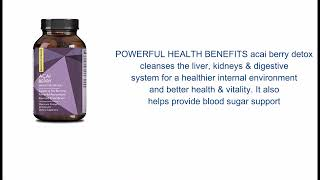 ure Acai Berry Concentrate Capsules – Acai Berry Cleanse Weight Loss + Antioxidant Support + Energ