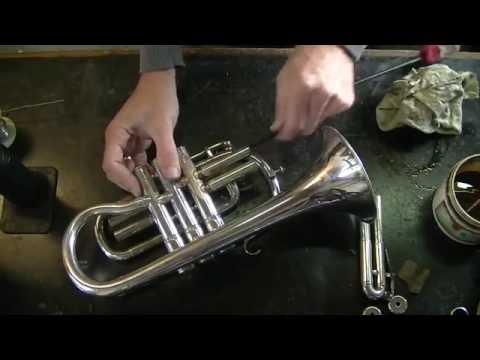 Brass instrument repair - Besson Cornet 3rd valve trigger