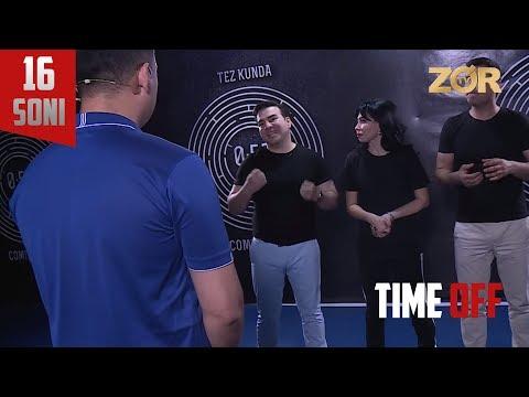 Time OFF 16-soni - Ma'mur Xolmedov, Barno Xamzaxon, Ilhom Oripov (08.08.2017)