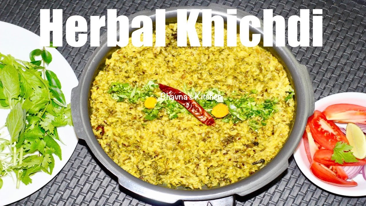 Herbal Khichadi Video Recipe | Herbed & Spiced Rice Lentil Stew Bhavna's Kitchen