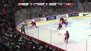 Латвия (U20) - Россия (U20) 29.12.2011(IIHF Чемпионат мира 2012 (U-20). Латвия - Россия - (0:1, 0:6, 0:7) - 0:14 Голы: 0:1 - Григоренко (Кучеров, Гусев), 10:29 0:2 - Сергеев..., 2011-12-30T19:23:21.000Z)