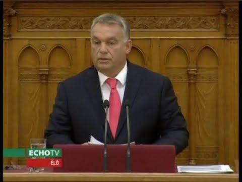 Orbán Viktor napirend előtti felszólalása