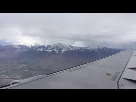 Flying through Salt Lake Valley
