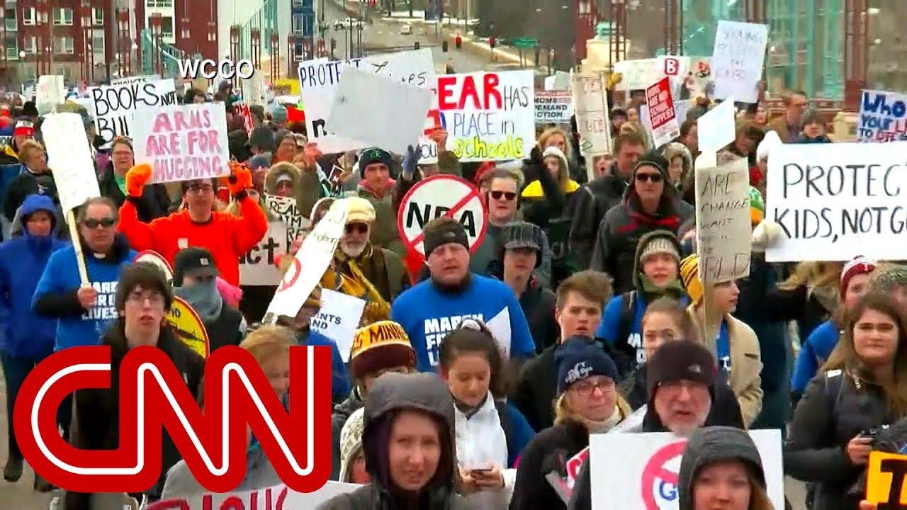 Massive crowds rally coast to coast to demand gun control
