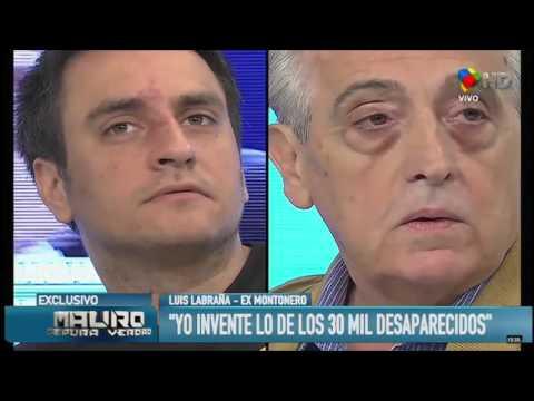 Luis Labraña ex Montonero cuenta que INVENTO el numero de los 30 mil