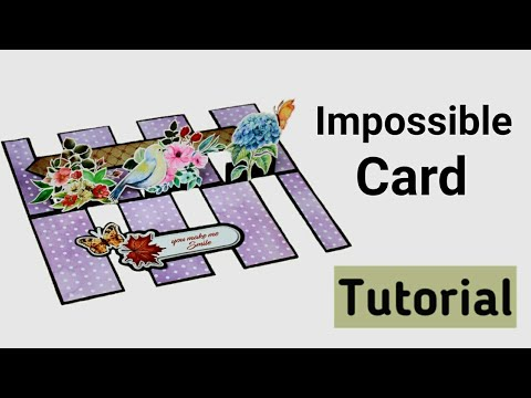 Impossible Card | Easy Friendship Day Card | Pop Up Birthday Card |