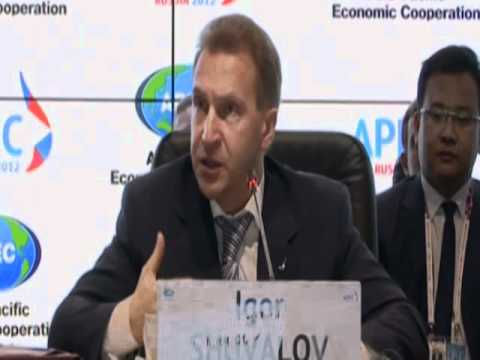 First Deputy Prime Minister of Russia, Igor Shuvalov, delivers remarks at MRT