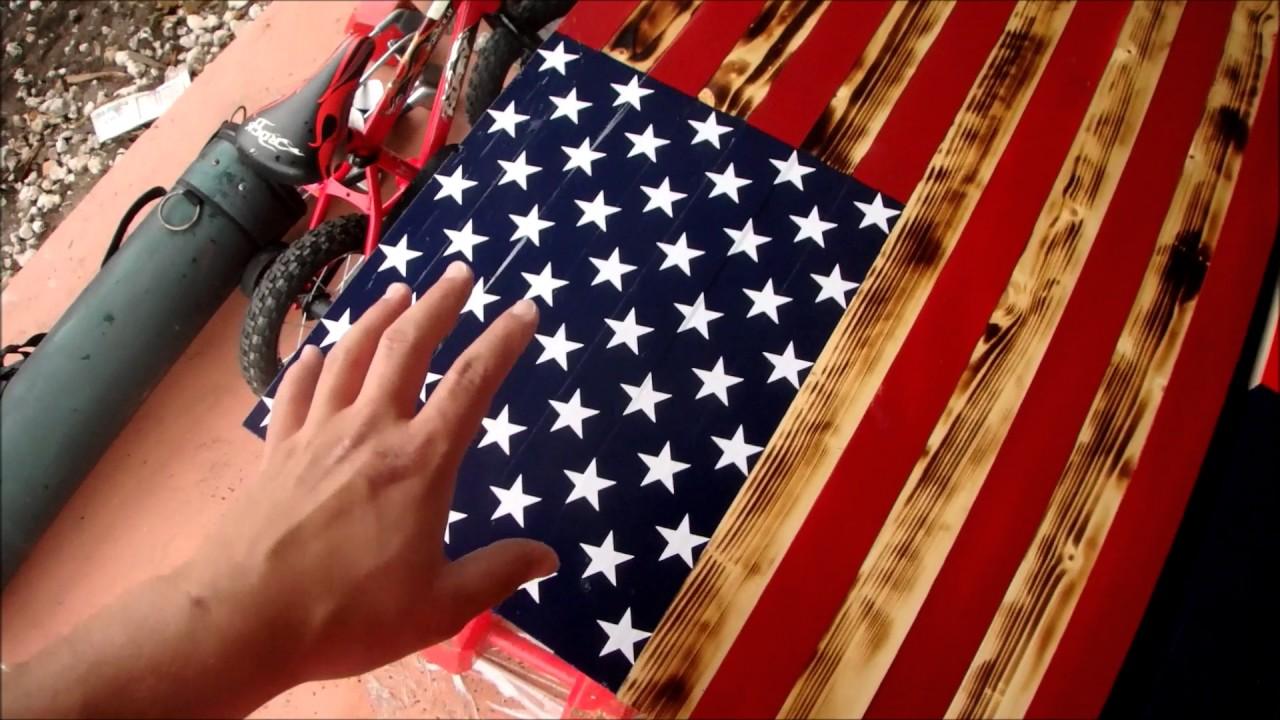 MAKING RUSTIC AMERICA FLAGS