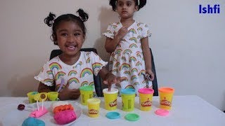 Pre-School Toddler Learn Colors with Play Doh & Lollipop Kids Video with Rufi Ishfi