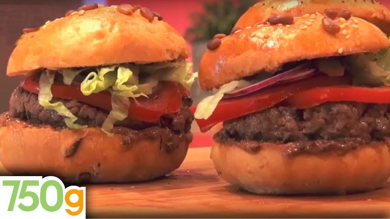 Recette de hamburger maison 750 grammes youtube - Recette hamburger maison original ...