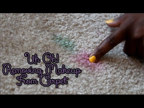 Removing Eyeshadow from Carpet - YouTube