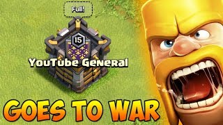 WHAT HAPPENS WHEN YOUTUBE GENERAL GOES TO WAR IN Clash Of Clans?!
