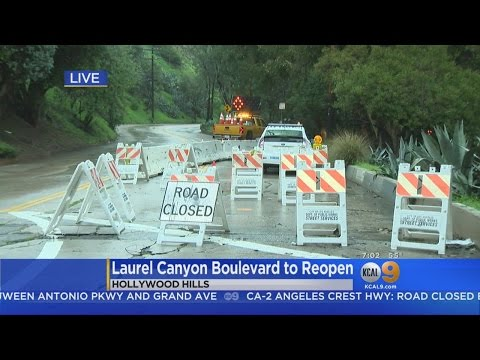 Laurel Canyon To Reopen This Weekend After Landslide