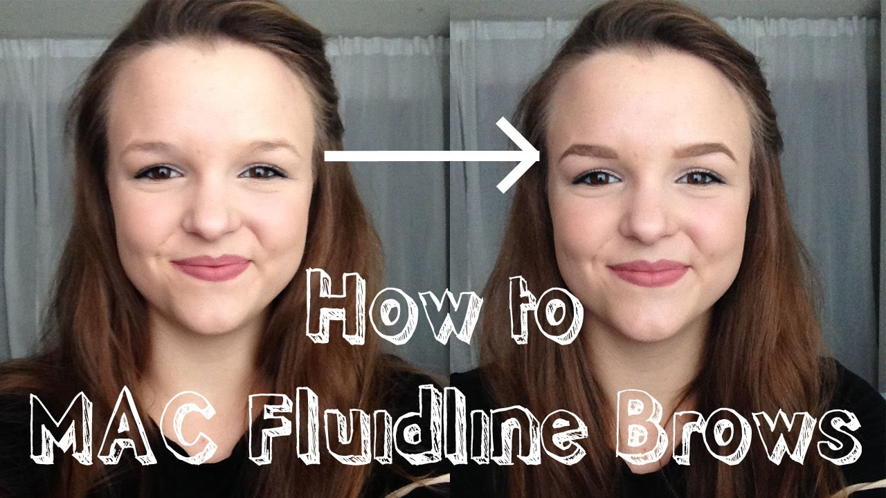 How To Mac Fluidline Brows Perfect Brows Youtube