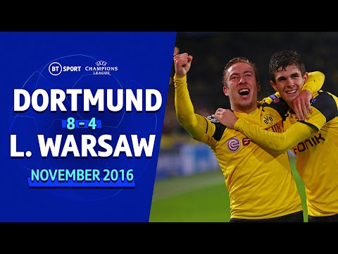 Borussia Dortmund 8-4 Legia Warsaw   Champions League highlights New Flash Game