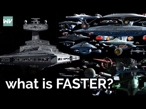 Are starships faster in Star Wars or Star Trek?