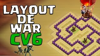 INCRÍVEL! LAYOUT DE GUERRA / WAR - CV6 / TH6 ( ANTI GIGANTE ) | Clash of Clans 🎯