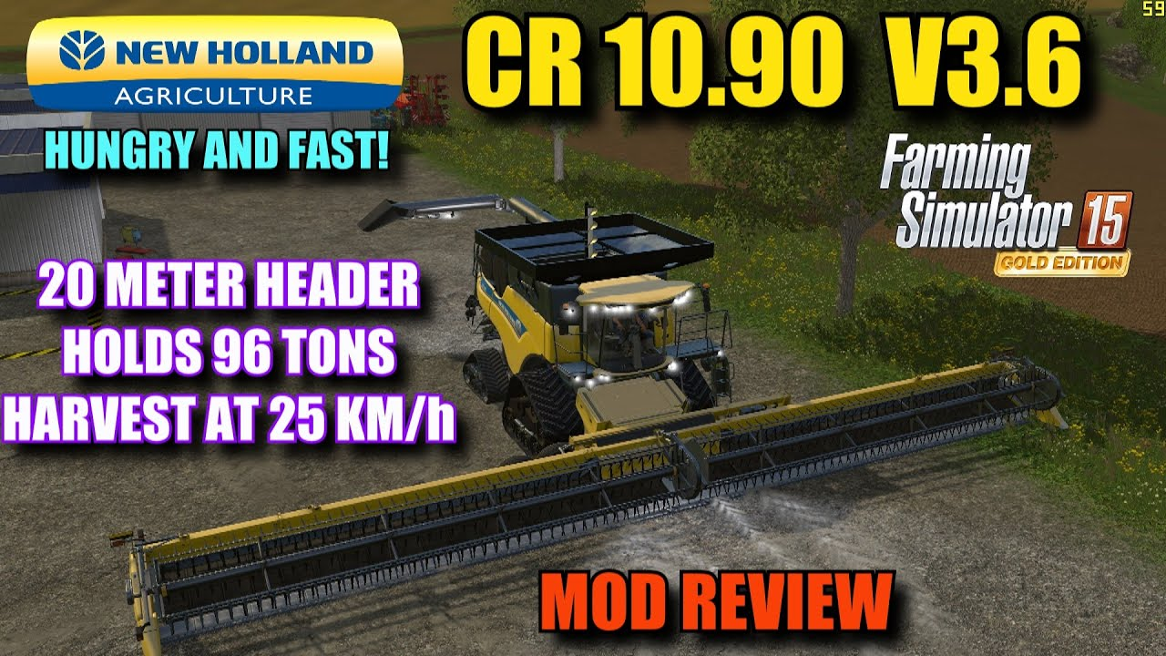 Farming Simulator 2015 Mod Review Quot New Holland Cr 10 90