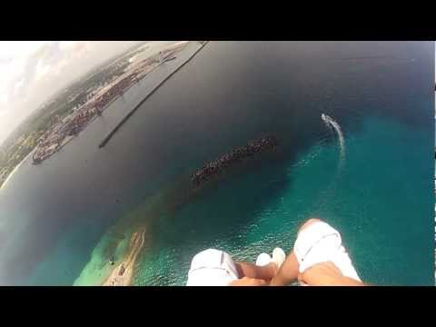 Paramotor Bahamas Flight over Paradise Island, The Bahamas.