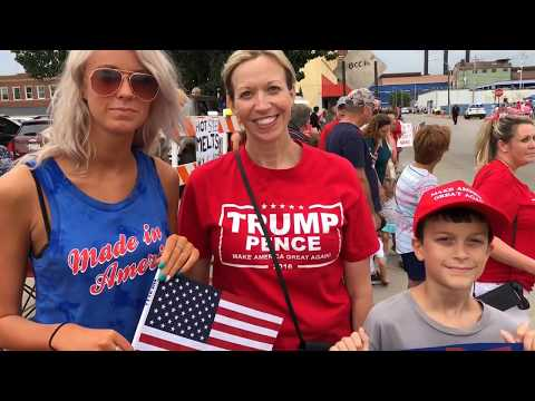 President Trump supporters line street in Granite City