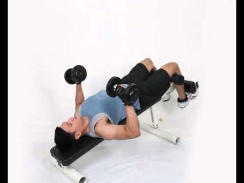 Gerakan Latihan Otot Dada - Decline Dumbbell Bench Press