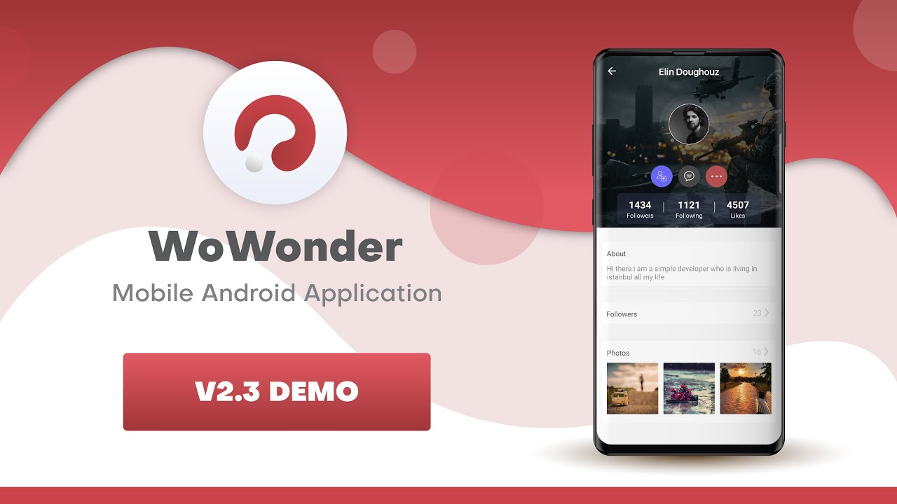 WoWonder Social Native Mobile Timeline Demo  v2.3.4