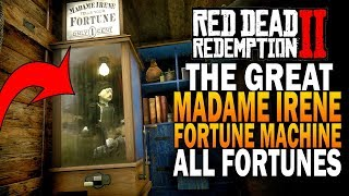 The Great Madame Irene Fortune Machine! All Fortunes! Red Dead Redemption 2 Secrets [RDR2]