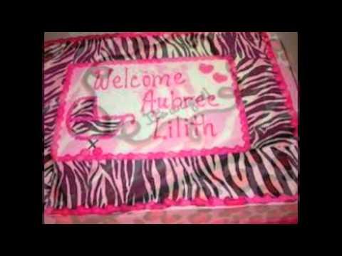 Zebra Print Baby Shower Cakes Youtube