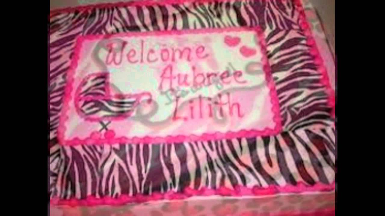 Zebra Print Baby Shower Cakes