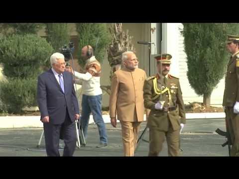 India's Modi visits Palestinian West Bank, meets Abbas