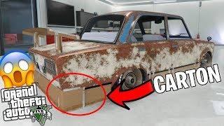 GTA 5 | Tuneando el *COCHE DE CARTON* El coche mas LOWCOST de GTAV!! | Stratus