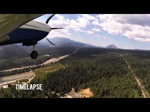 Watch us fly into Dunsmuir Airport - California