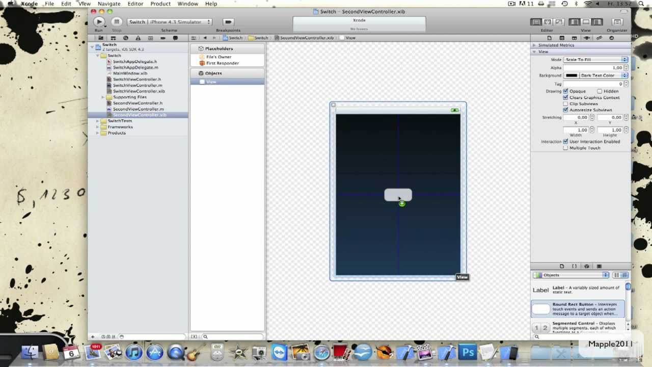 Drawing Line Xcode : Xcode 4 iphone sdk tutorial switch views hd youtube