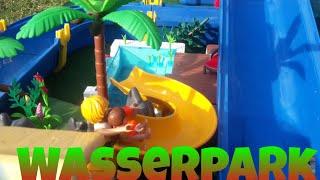 Playmobil Film Deutsch - Im Wasser Funpark Wasserrutschen Teil 2 Mega Aquapark Familie Lucky