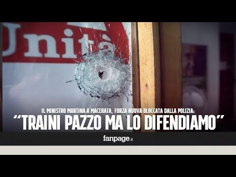 """Spari contro la sede Pd di Macerata, Forza Nuova bloccata dalla polizia: """"Traini è un pazzo ma lo di"""
